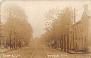 E84/ Brilliant Ohio RPPC Postcard Jefferson County 1910 South Main Street Homes