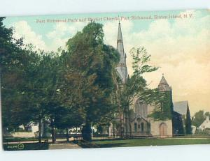 Divided-Back CHURCH SCENE Staten Island - New York City NY A9965