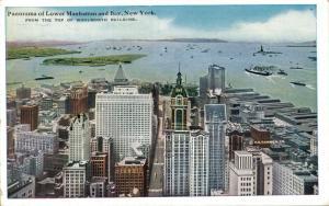 USA Panorama of Lower Manhattan and Bay New York 01.73