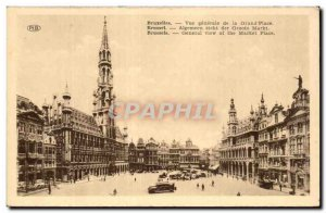 Brussels Old Postcard General view of the main square