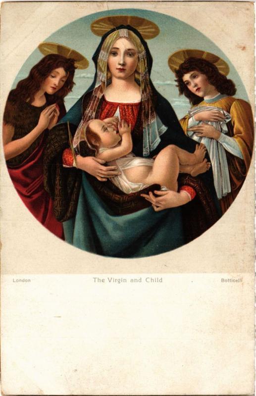 CPA STENGEL 29951 The Virgin and Child, Botticelli (744815)