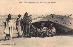 Senegal Campement Maure tent natives Postcard