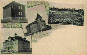 Canada Moose Jaw Sask King Edward School Alexandra Victoria Garden Postcard