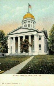 LPS46 Norfolk Virginia Court House Postcard