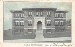 Wilson Hall, Kansas City University, Kansas City, MO., early postcard, unused