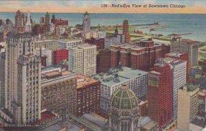 Illinois Chicago Birds Eye View Of Downtown 1942