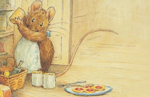 Appley Dappleys Nursery Rhymes Beatrix Potter WW1 Mouse Book Postcard
