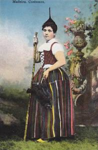 Lady Wearing Typical Costume, Madeira, Portugal, 1900-1910s