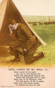 Soldier Praying. Jesu, Lover of My Soul