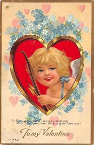 To My Valentines Postcard John Winsch Publisher postal used date unknown