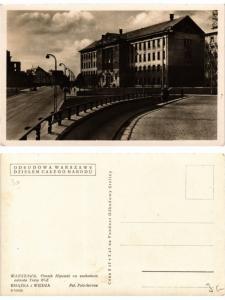 CPA AK WARSZAWA Gmach Hipoteki na zachodnim odcinku Trasy W-Z POLAND (289968)