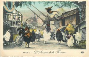 France theatre costumes Chantecler de M. Edmond Rostand arrivee de la Faisane
