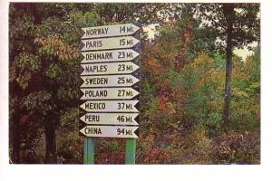 Comic Sign Post, Maine, Photo Lyman Owen