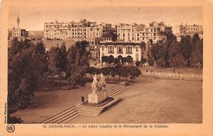 La Place Lyautey et le Monument de la Victorie Casablanca Unused