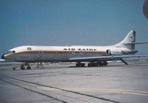 AIR ZAIRE SE210 Caravelle Airplane , 60-80s