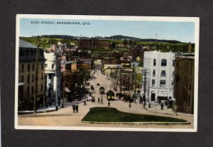 PQ King St City View Sherbrooke Quebec Canada Carte Postale Postcard