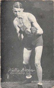 Chicago Illinois Willie Green Boxer Sports Vintage Postcard AA43643