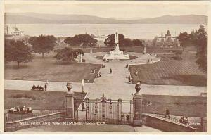 Well Park & War Memorial, Greenock, Scotland, UK, 1910-1920s