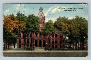 La Crosse WI-Wisconsin, County Court House, Vintage c1918 Postcard