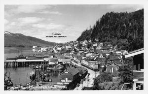 KETCHIKAN, ALASKA NEW TOWN  RPPC REAL PHOTO POSTCARD