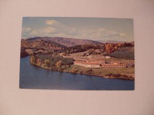 pre-1980 MADISON MOTOR INN HOTEL AERIAL VIEW Rumford Maine ME Postcard y6031