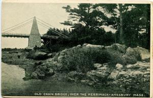 MA - Amesbury. Old Chain Bridge over the Merrimack