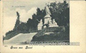 St Jacob Denkmal Gruss aus Basel Swizerland Unused