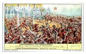 Battle at Lutter, 30 Years War, History of Denmark Liebig Belgian Trade Card