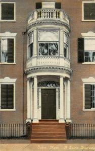 Salem Massachusetts~A Salem Mansion Doorway~2 Story Bay Window~Balcony~c1910
