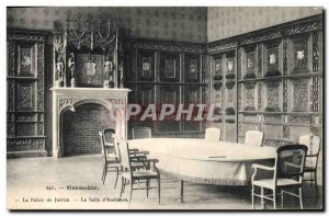 Old Postcard Grenoble The Courthouse Courtroom