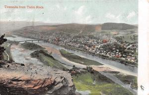 Towanda PA~Homes @ Shore of Susquehanna~1906 Nice Quakake #4 Doane Cancel