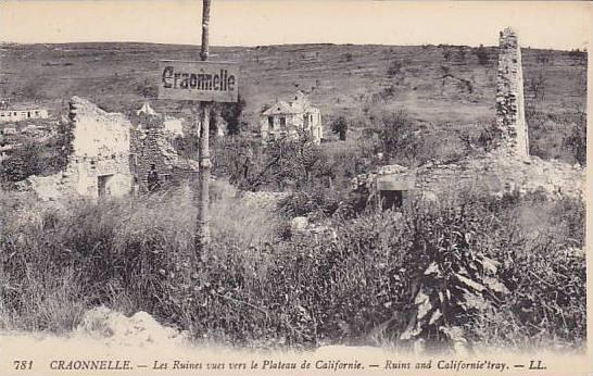 Ruins And Californie' Tray, Craonnelle (Aine), France, 1900-1910s