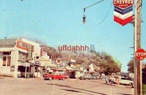 JULIAN, CA. business district Golden Pine Cafe Tozer Drugs Circa 1960
