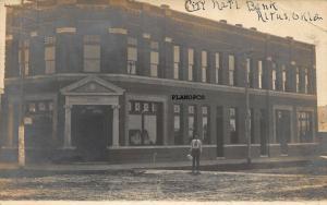 ALTUS, OKLAHOMA CITY NATIONAL BANK-1907 RPPC REAL PHOTO POSTCARD