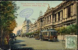 argentina, BUENOS AIRES, Escuela Sarmiento, TRAM (1910s)