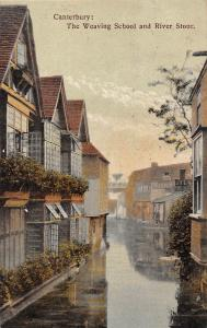 Canterbury: The Weaving School and River Stour 1908