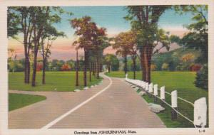 Massachusetts Greetings From Ashburnham