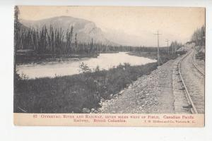 B77487 BC ottertail riover and railway seven miles  canada scan front/back image
