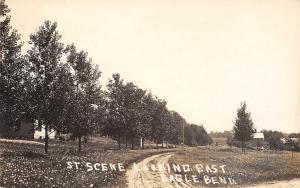 Eagle Bend Minnesota~Country Homes Street Scene Looking East~Dirt Road~1912 RPPC