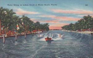 Florida Miami Beach Water Skiing On Indian Creek