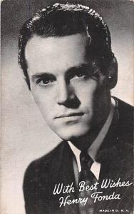 Henry Fonda Non Postcard Backing Unused