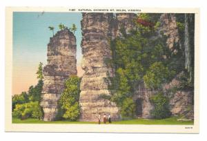 Natural Chimneys Mt Solon VA Stone Towers Vintage Linen Postcard