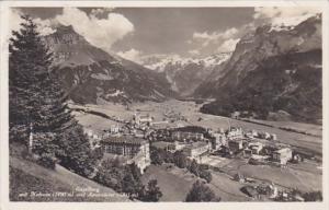 Switzerland Engelberg mit Hahnen und Spannoerter 1951 Photo