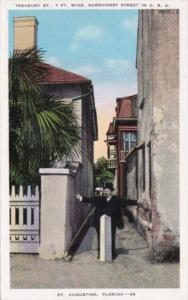 Treasury Street 7 Feet Wide Narrowest Street In The U S St Augustine Florida