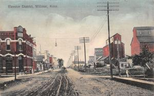 Willmar MN Handcolored~New London & Northwestern Elevators~Bank~Dr Nelson c1910