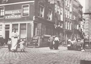 Amsterdam Markets Poverty Areas in 1902 Postcard
