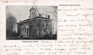 Lawrence University, Appleton, Wisconsin, Early Postcard, Used in 1906