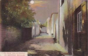 Bermuda St Georges Old Maids' Alley By Moonlight 1912