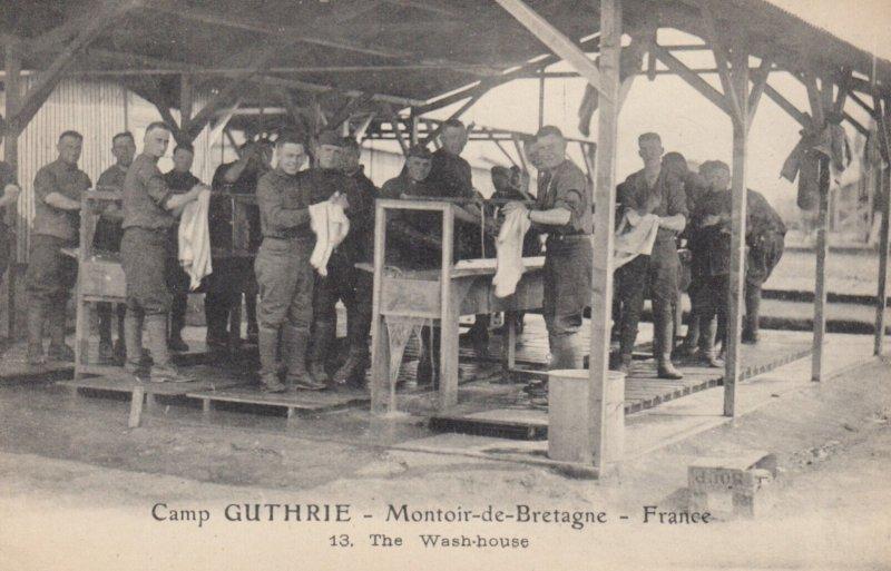 MONTOIR-De-BRETAGNE , France , 1910s ; Camp GUTHRIE ; The Wash-House
