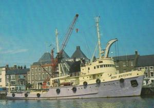 Bon Etente Tow Ocean Salvage Boat Ship Postcard